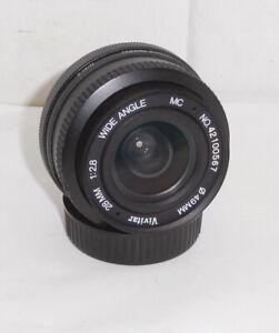 Vivitar ~ 28mm f/2.8 Wide Angle Lens. Nikon AI-S, F Mount No.42100567