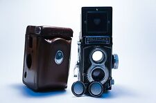 Rolleiflex 3.5T with case and Cap, Perfect Working. Free WW Shpping