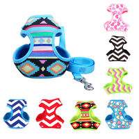 No Pull Mesh Pet Dog Puppy Harness Strap Vest with Leash Lead Adjustable S-XL