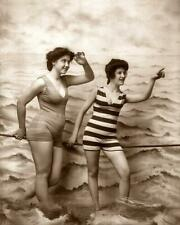 Antique Photo... Women in Bathing Suits 1900s ... Fitz W. Guerin- Reprint  8x10