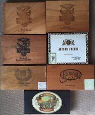 (7) Old Vintage Cigar Box Lot BELMONDO THOMPSON ARTURO FUENTE CUBANO ESPECIALES+