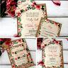 Wedding Invitations Personalised & Evening Invites Handmade -  Floral Vintage