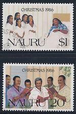 1986 NAURU CHRISTMAS SET OF 2 FINE USED/CTO