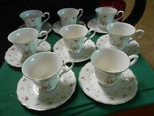 """Outstanding ROYAL DOULTON """"The Moselle Collection"""" AVIGNON ...8 CUPS & SAUCERS"""