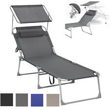 XXL Sonnenliege Gartenliege verstellbar Liegestuhl Campingliege klappbar Liege