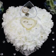 Lot Wedding Decor Heart-shape Flowers Valentine's Day Gift Ring Pillow Cushion