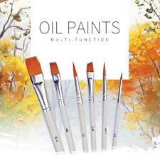 6Pcs Art Painting Brushes Set Acrylic Oil Watercolor Artist Paint Brush Set