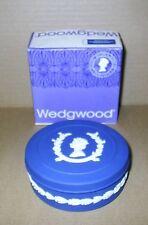 Wedgwood Jasperware Royal Blue Round Box