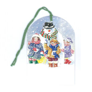 Pack of 5 Courtier Snowman Christmas Gift Tags Ref 638se21