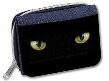 AC-4JW Black Cats Night Eyes Girls//Ladies Denim Purse Wallet Christmas Gift Ide