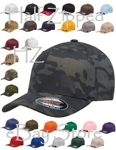 Flexfit Structured Twill Fitted Cap Baseball Hat 6277 S/M L/XL XL/2XL 29 COLORS!