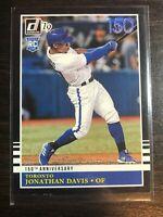 2019 Panini Donruss 150th Anniversary #221 Jonathan Davis RETRO #d/150 Blue Jays