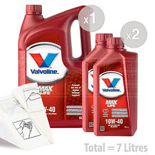 Car Engine Oil Service Kit / Pack 7 LITRES Valvoline MaxLife 10w-40 7L