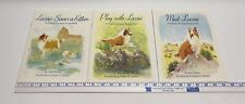 3 New Lassie Dog Sticker Books-Rough Collie-Rebus Storybooks By Tallen & Jerome