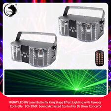 2x U`king RGBW Laser Bühnenlicht Fernbedienung  DMX Party DJ Show Discolicht