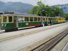 PHOTO  SWITZERLAND WENGEN TRAM  WAB STOCK