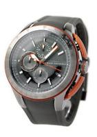 NWT  Armani Exchange Watches Quartz Chronograph Grey Rubber Men's Watch AX1402