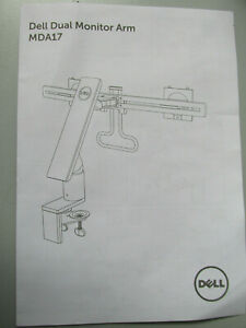 Dell MDA17 Dual Monitor Arm Ständer MDA17 00C0JY - 2 Fach TFT Halterung