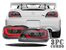 COMBO DEPO Honda S2000 LED JDM Sequential Signal Tail Light + Smoke 3rd Brake