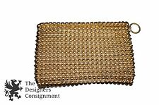 Vintage Talon Gold Metal Bubble Mesh Clutch Coin Purse Bag