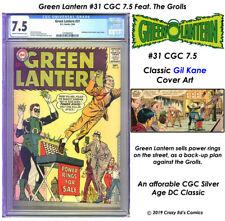 GREEN LANTERN # 31 CGC 7.5 VF Great GIL KANE + 2 Great GL tales + READER! L@@K!