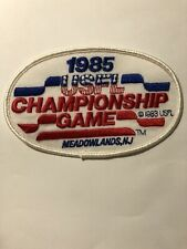 1985 USFL Championship Game Football Jersey Patch Meadowlands NJ
