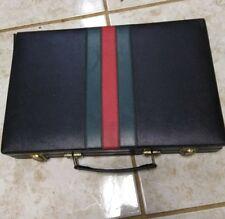 Beautiful VINTAGE BACKGAMMON SET GUCCI Colors BLACK w/ RED & GREEN STRIPES