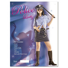 Police Woman Fancy Dress Halloween Costume Ladies Cop Sexy Outfit Womens Medium