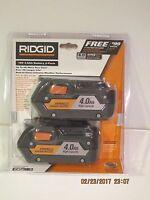 RIDGID (2-Pack) AC840087P 18-Volt 4.0Ah Lithium-Ion-HYPER LI BATTERY F/SHIP NISP