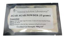 AGAR POWDER - 15 grams (will yield 1 Liter Nutrient Agar) - LABORATORY GRADE