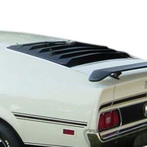 Fits: Ford Mustang Fastback 1971-1973 Willpak Aluminum Rear Window Louver