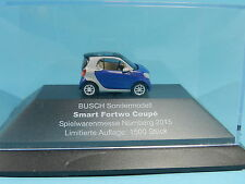 BUSCH MESSEMODELL 2015 SMART FOR TWO COUPÉ 1:87