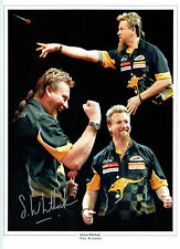 Simon WHITLOCK The Wizard Signed Autograph Darts 16x12 Photo Australia AFTAL COA