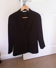 Next petite ladies tailored lined black jacket 6 work smart