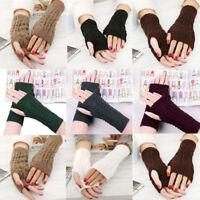 Women's Fingerless Gloves New Soft Mitten  Woollen Winter Warm Knitted 3 Colours