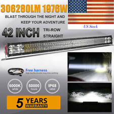 "8D 42INCH 1976W CREE LED LIGHT BAR WORK COMBO TRI ROW DRIVING LAMP 40"" 44"" VS 7D"