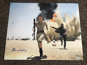 Star Wars Daisy Ridley Signed 16x20 Force Awakens PSA Witnessed Certified