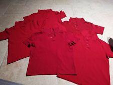 School Uniform Red Polo T-shirt Tops Matalan Age 6 Years