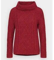 Seasalt Tutwork Women's Jumper - Dahlia Red - Size 18 - RRP £90