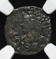 SPAIN, Valencia. Carlos I, 1516-1558. Billon Dinero, NGC VF Details