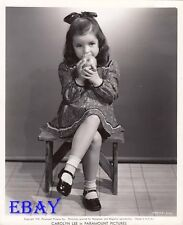 Carolyn Lee eats apple VINTAGE Photo