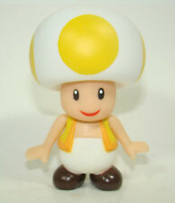 Super Mario Brothers Mushroom Yellow Toad  Action Figure Plastic Toy 9CM