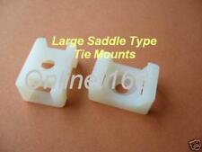 Cable Tie Mounts _ Large Saddle / Credle Type 1000pcs FREE P&P WHITE