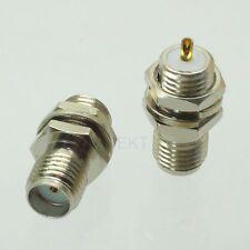 1pce SMA female jack nut bulkhead 1/4-36UNS-2A solder RF connector NICKEL