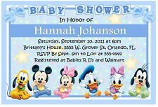 BABY MICKEY DISNEY BABIES BABY SHOWER INVITATIONS