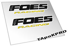 Brand New Custom Foes logo frame glossy lamination stickers decals