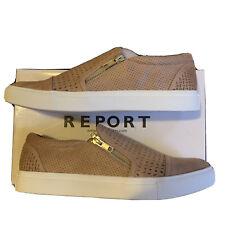 Report Alexa Nude Women's Shoes Side Zip Slip On Light Brown Size 9M