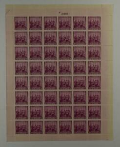 US SCOTT 836 PANE OF 40 LANDING OF THE SWEDES AND FINNS STAMPS 3 CENT FACE MNH