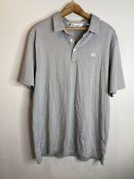 Travis Mathew Short Sleeve Polo Shirt Mens Size Large  Grey  Golf