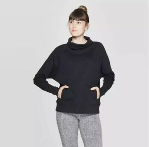 C9 Champion Women's Sweatshirt Pullover Black Front Pouch Pocket Size XS New